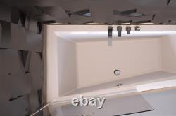 Offset Corner Bath INTIMA SPACE SAVER 1500 x 850 mm 150 x 85cm Bathtub