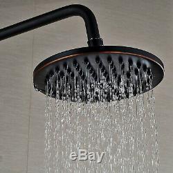 Oil Rubbed Bronze Bath Rain Shower Faucet Set Tub Spout Mixer Tap Hand Sprayer