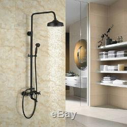 Oil Rubbed Bronze Bathroom Luxury Shower Faucet Rain Mixer Bathtub Hand Sprayer