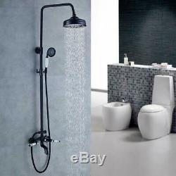 Oil Rubbed Bronze Bathroom Shower Faucet Rainfall Mixer Bathtub Hand Sprayer