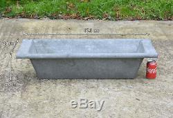 Old vintage galvanized tin bath/dog/ flower tub/ trough /duck pond FREE DELIVERY