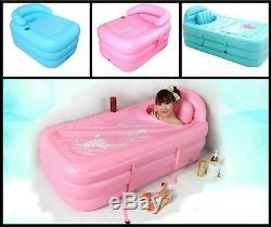 Outdoor Inflatable Bath Spa Bathtub Portable Foldable Bathroom Sun Bed Hot Tub