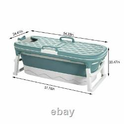 Portable Folding Bathtub Water Tub Adult Spa Bath Bucket Rectangle Home Indoor