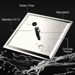 Rain Waterfall Concealed Shower System Wall Mount Bathtub Shower Combo set chrom