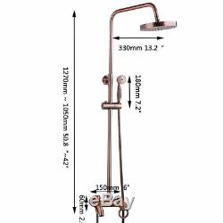 Rainfall Antique Copper Bathroom 8 Shower Head&Hand Shower Tub Mixer Tap Faucet