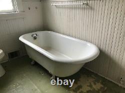 Rare clawfoot antique vintage cast iron porcelain bath tub bathtub