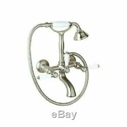 Rohl A1401LPPN Rohl Bath Exposed Wall Mounted Tub Shower Mixer Polished Nickel