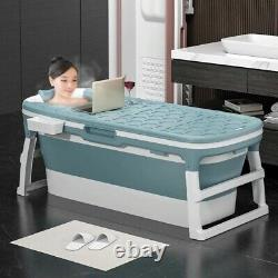 S/L Portable Folding Adult Bathtub Water Tub Spa Bath Bucket Rectangle Indoor