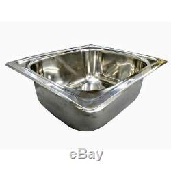 SINGLE BOWL BAR KITCHEN SINK Small Inset Stainless Steel Tub SE4 20L 420x360x160
