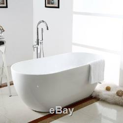 Seamless Freestanding Bathtub White Luxury Spa Bath Tub 65 Acrylic Soaking Tub