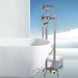 Senlesen Floor Mounted Bathroom Faucet Free Standing Bath Tub Filler Mixer Tap