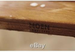 Shower Bath Tub Seat Chair Wall Mounted Folding Back Wood MOEN Fold Down Teak