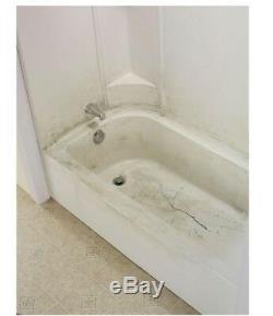 Shower Bathtub Base Bath Tub Floor Repair Kit Inlay 40 x 16 in. Easy DIY Bone