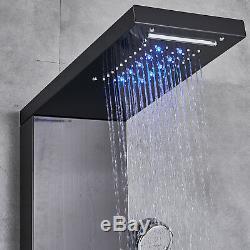 Shower Panel Tower System Column Spa LED Rain Waterfall Head Bathtub Faucet