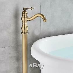 Single Handle Deck Mount Antique Solid Brass Tub Spout Faucet Bathtub Mixer Tap