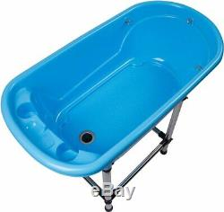 Small Portable Bath Tub For Dogs and Cats (Blue) Dog Pet Grooming
