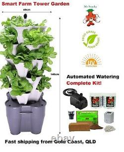 Smart Farm Hydroponic Tower Garden Automated Electric Vertical Garden Kit