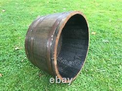 Solid Half oak wine Whisky barrel planters Garden Patio Lawn Tub Flower Pot Pond