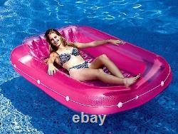 Swimline 71 Inch Swimming Pool Suntan Tub Inflatable Lounge Water Raft Float