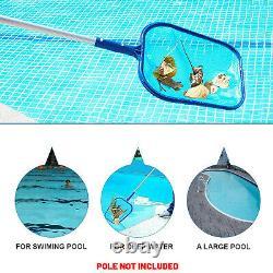 Swimming Pool Flat Leaf Debris Skimmer Net Koi Pond Water Hot Tub Cleaning Tool