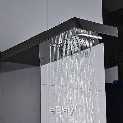 Thermostatic Shower Panel Column Tower Massage Jet Hand Shower Tub Combo Mix Tap
