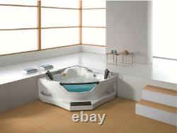 Two 2 Person Corner Hydrotherapy Whirlpool Bathtub Spa Massage Therapy Hot Tub