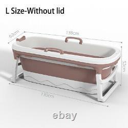 US Bathtub Bath Barrel Adult Child Folding Soaking Tub Basin Baby Sw