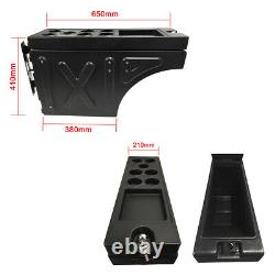 Ute Tub Storage Box Side Universal Tool Box Lockable single Trailer Black