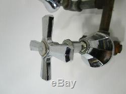 Vintage Chrome Bath Tub Faucet Fixture withHandles Sink Antique Plumbing Art Deco