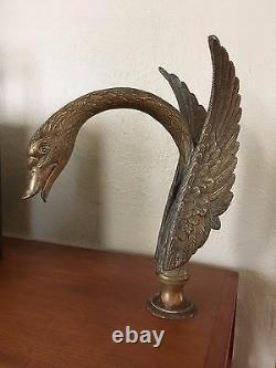 Vintage Phylrich or Sheryl Wagner 13 Bronze Swan Deck Tub Faucet Only Louis XIV