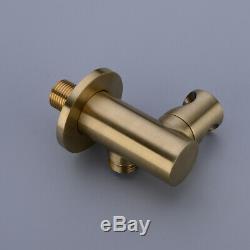 WELS Brushed Gold, Black Bathtub Mixer Tap Set Bath Filler Spout Handheld Shower