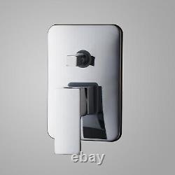Waterfall Spout Bathroom Wide Tub Basin Sink Faucet Mixer Tap Chrome Wall Mount