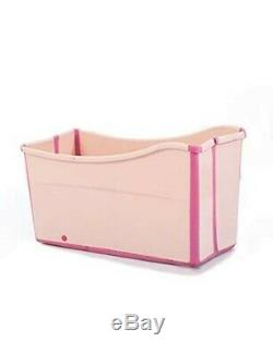 Weylan Tec Freestanding Collapsible Large Foldable Bath Tub Bathtub PINK WoW