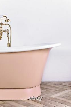 Witt & Berg Copper Bateau Bathtub Pastel Pink Exterior / Enamel Interior